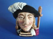 Small Royal Doulton 'Aramis - One of the Three Musketeers' Character Jug D6454